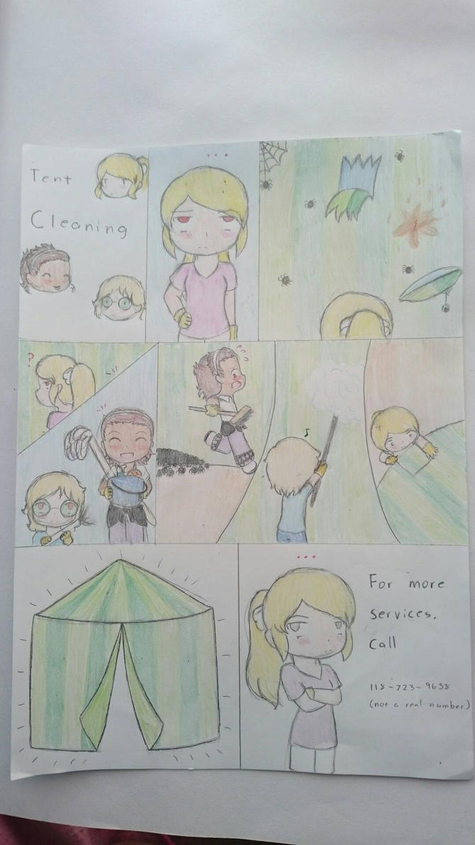 Tent Cleaning by Sofiathefirst
