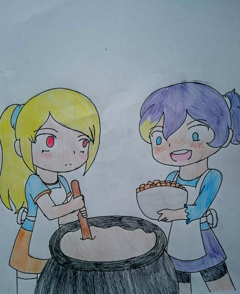 Art Trade: Cooking Together  by Sofiathefirst