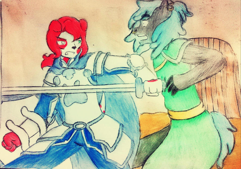 Pit Fight - Jason Vs Ulmer  by Sofiathefirst