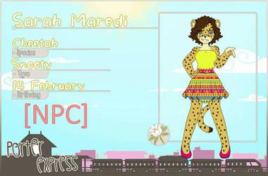Porter Express NPC: Sarah Maredi  by Sofiathefirst