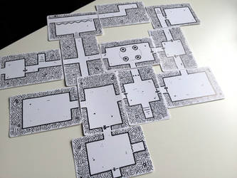 Playing Card Dungeon Map