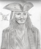 Pirates of the Caribbean _ Sparrow (Johnny Depp) by ArthurWtb