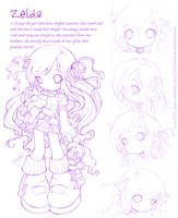 Zelda Sketch by Phenix-Dawn