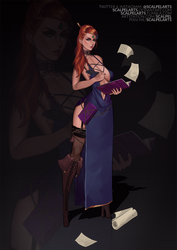 CLOSED AUCTION Adoptable #97: Female Wizard by ScalpelARTS