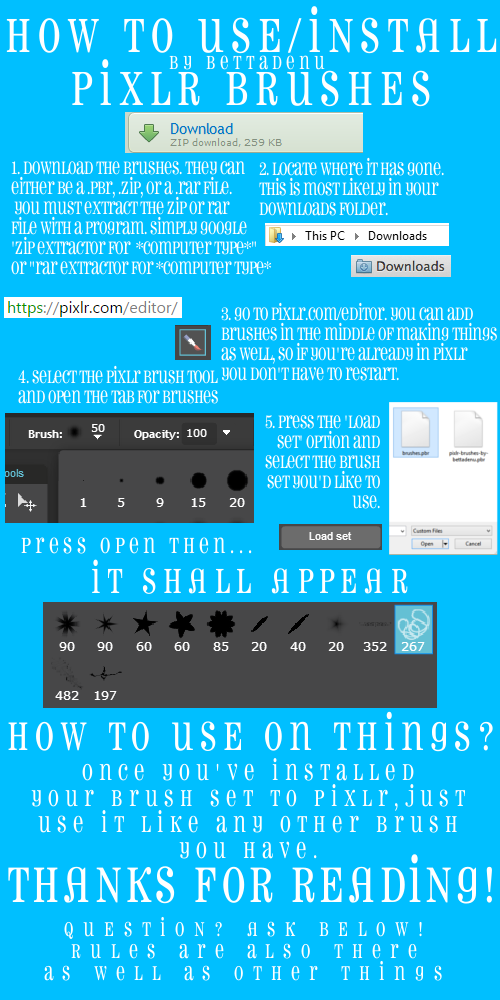 How to use and install a Pixlr brush by bettadenu on DeviantArt