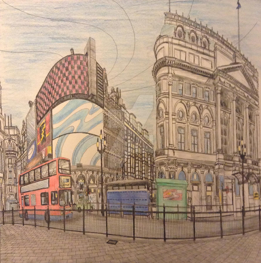 Piccadilly Circus, London, England by Canis-Simensis