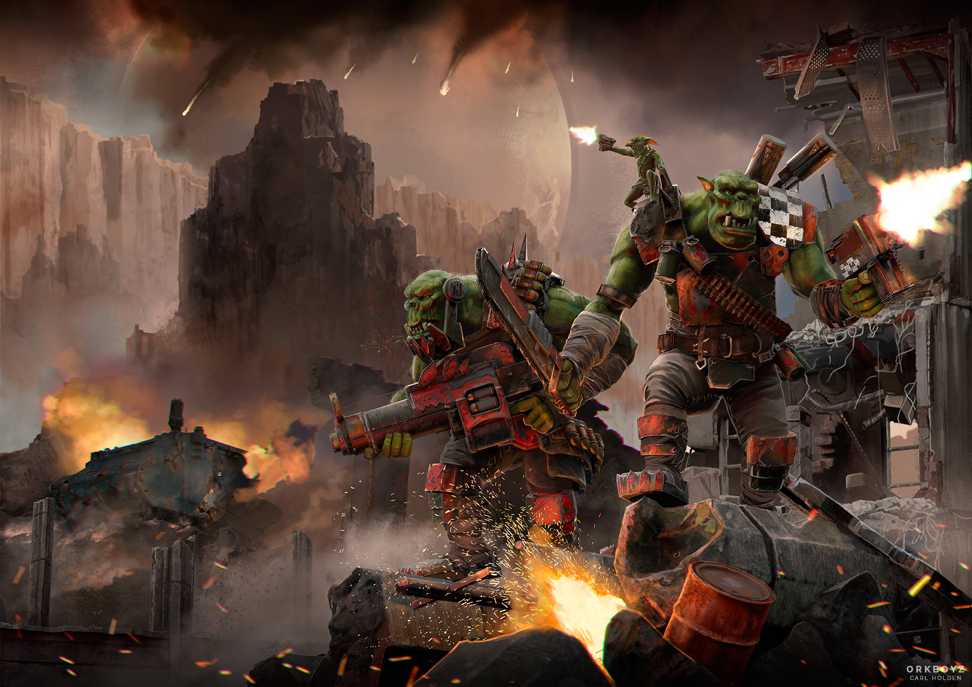 Ork Boyz Warhammer 40K by CarlHolden on DeviantArt