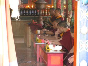 Buddhist Monks by artszy