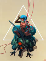 Ghost in the shell by pascalblanche