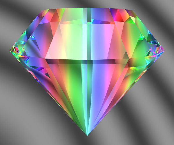 rembrandtz rainbow products facet ornament diamond