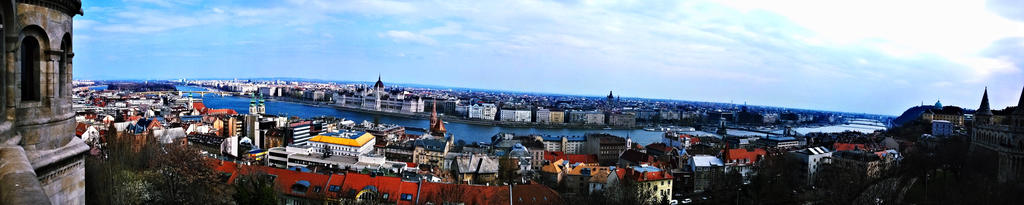 budapest panorama by nymphen