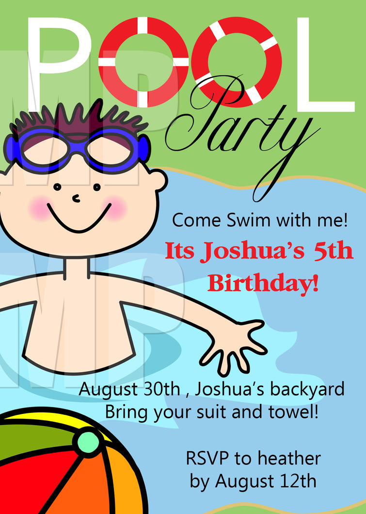 Free Swimming Party Invitations Pasoevolistco - Party invitation template: free printable birthday party invitations templates