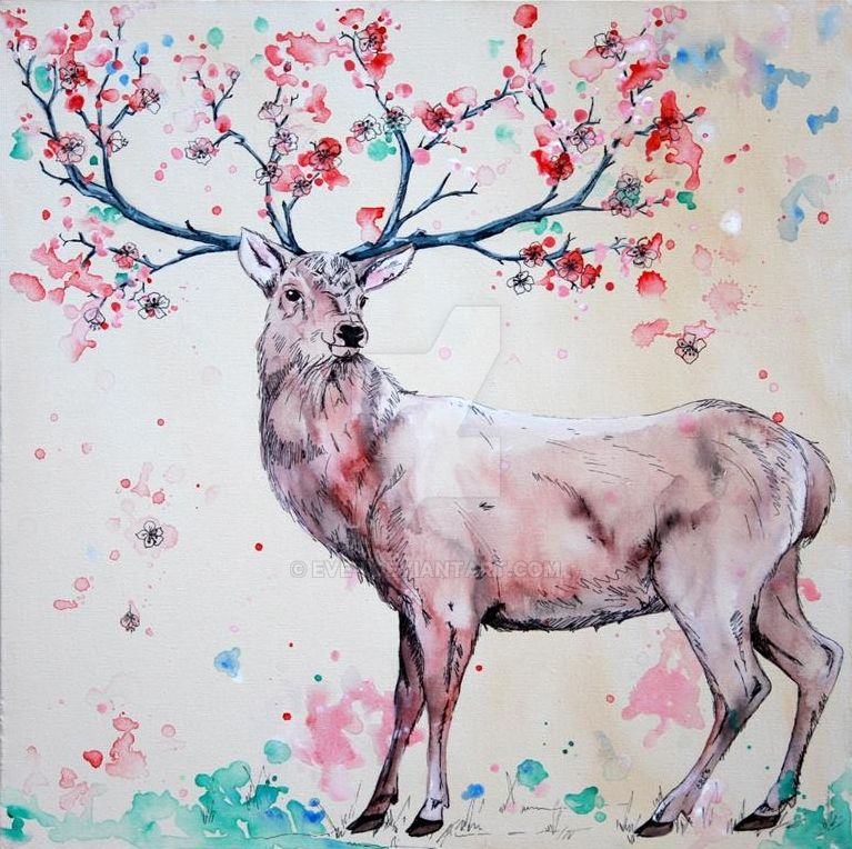 Cherry Tree Stag by Eve-I