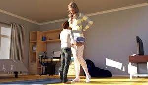 A tall girl!