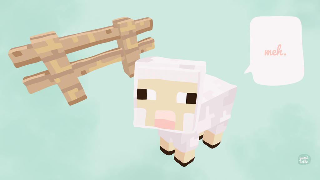 Meh - Cute Minecraft baby sheep by Yuminette on DeviantArt