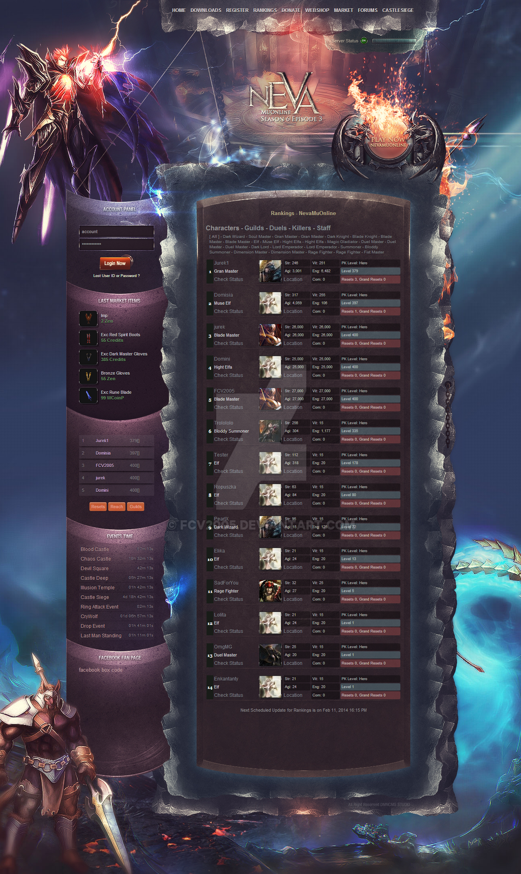 MuOnline Interface by FCV2005