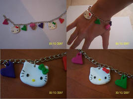 A Hello kitty bracelet by Barbarit