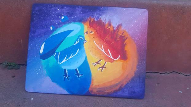 Water bird and Fire bird?