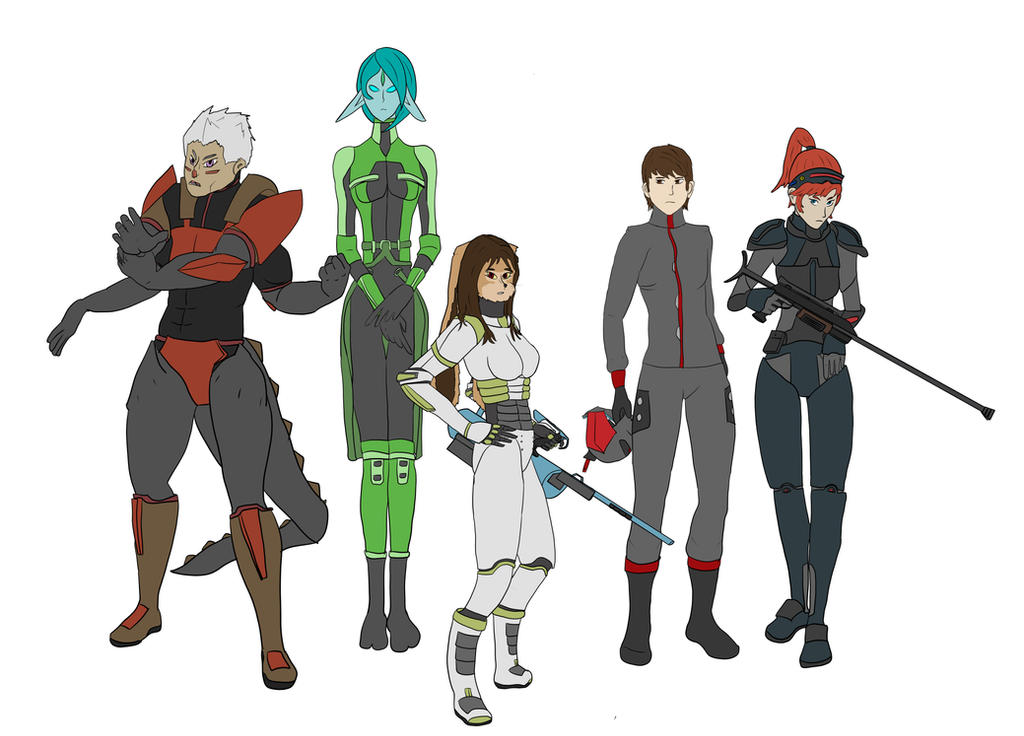 space characters by reddyster on deviantart