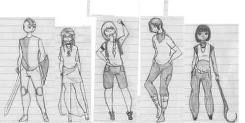 Team Sketch: Second Soldiers by Wondering-Antagonist