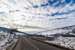 Between the hills