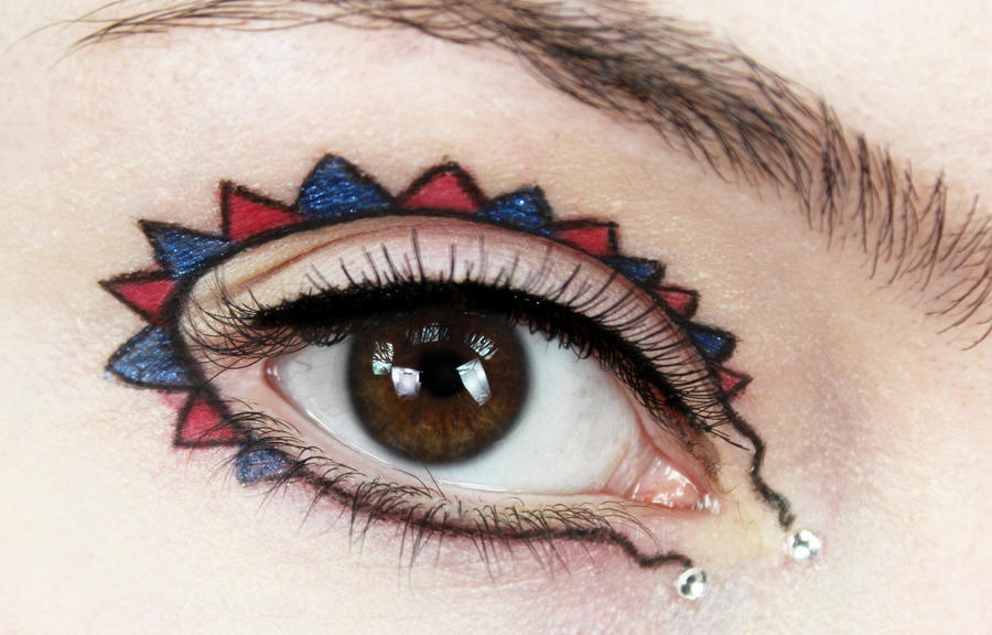 Bunting Makeup by KlairedeLys