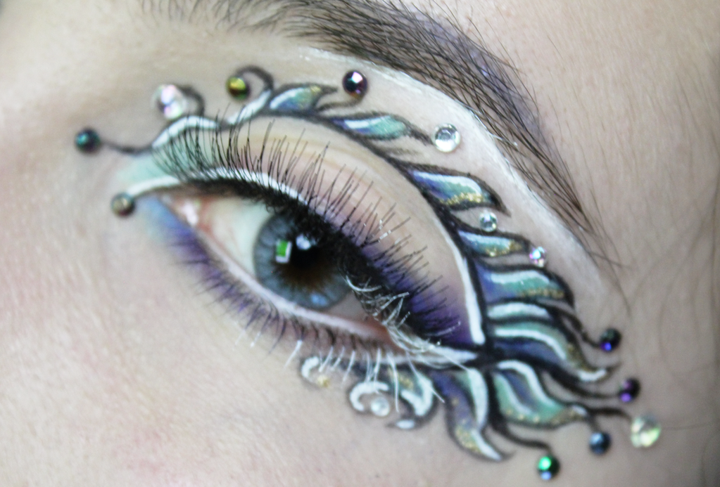 Pisces Eye Makeup Detail by KlairedeLys
