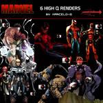 2 Marvel Comics Render Pack