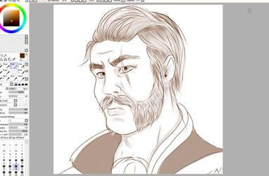 Gilnean 15 minute sketch by LyraBlackArt