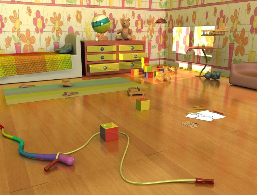 3d rendered kid's room