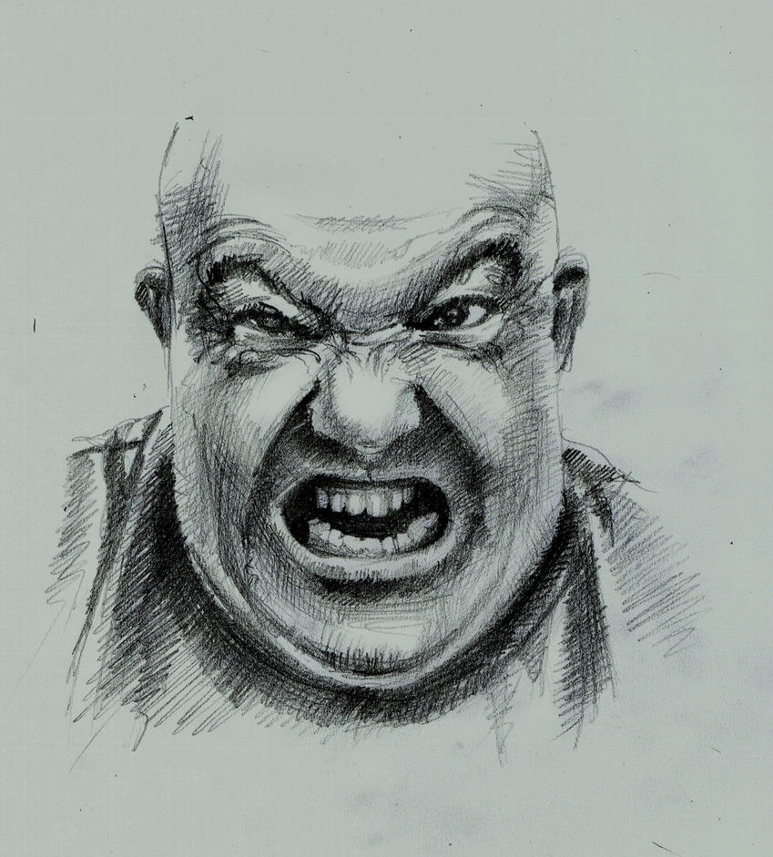 angry emotions drawing