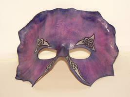 Purple leather knotwork mask by littlelazydragon