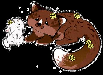 Fluffy Soul Mates by Panda-kiddie