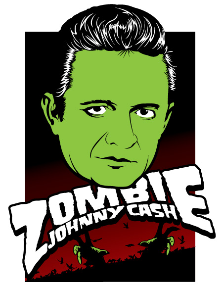 Johnny Cash Vector Zombie Johnny Cash by Johnny-
