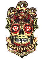 Satansbrand Sugar Skull Logo by Johnny-Sputnik