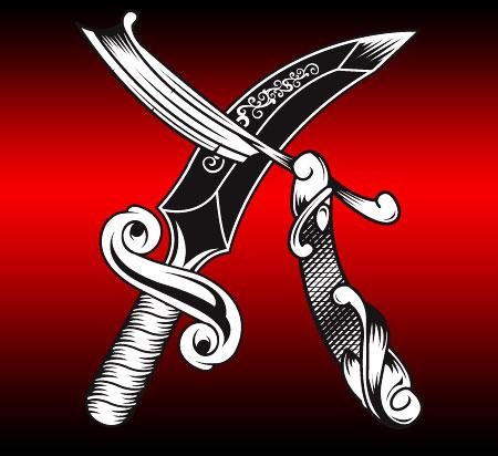 Cut throat razor n dagger by johnny sputnik on deviantart for Cut throat tattoo