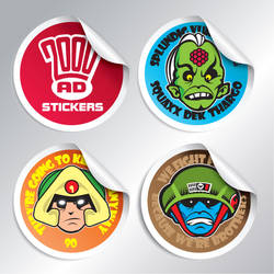 2000AD Character Stickers
