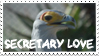 Secretary Bird Stamp by Macropus-Rufus