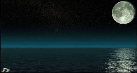 Moonlit Ocean by LWJackn