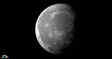 The Moon by LWJackn