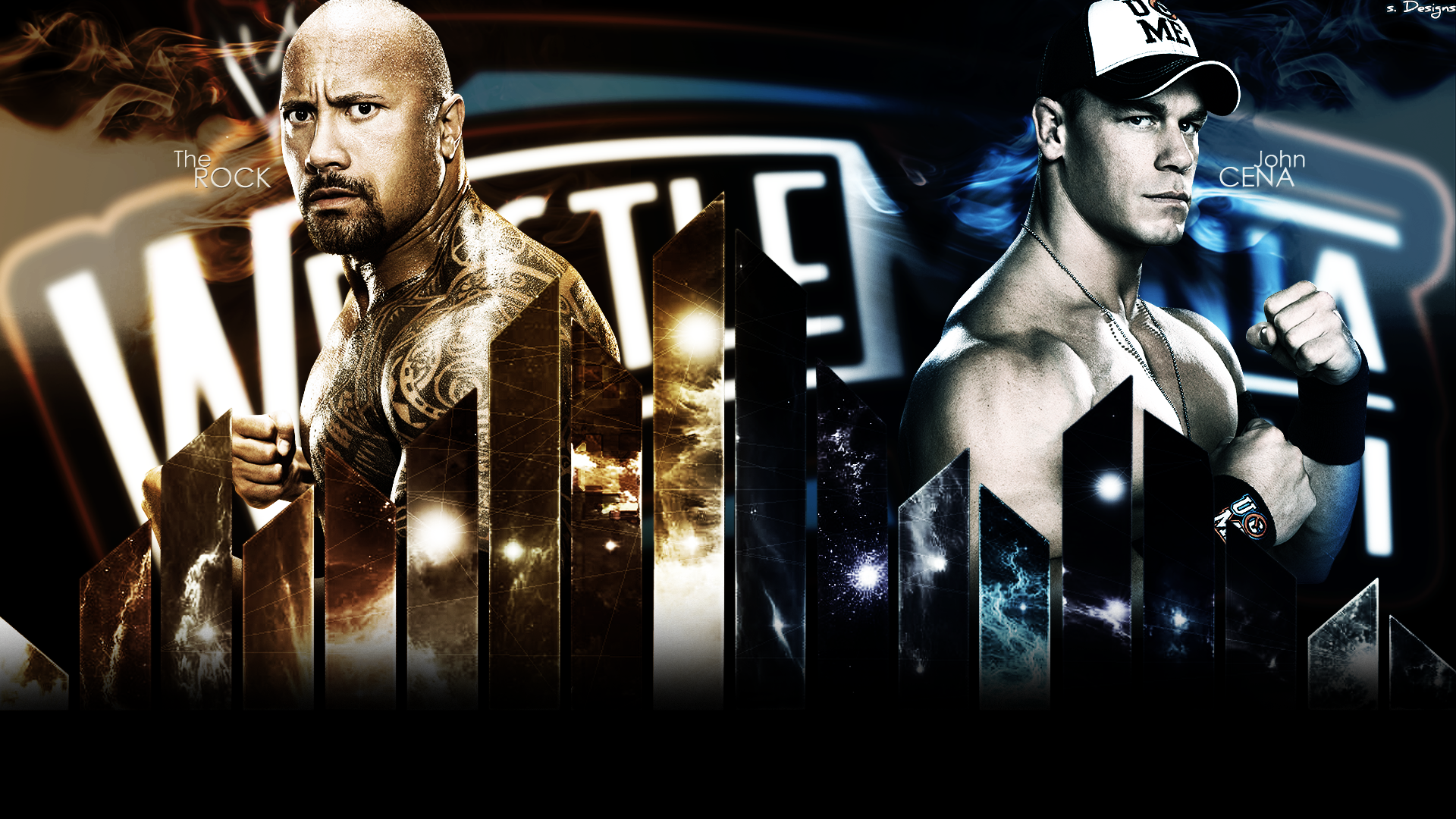 Wwf Pictures The Rock Vs John Cena Full Hd Wallpaper