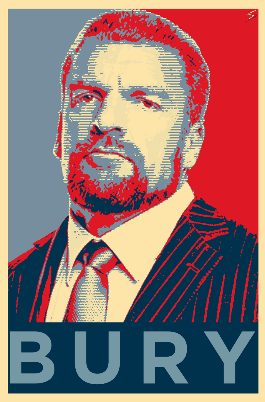 triple h bury poster obama s hope style by skilled97 on deviantart