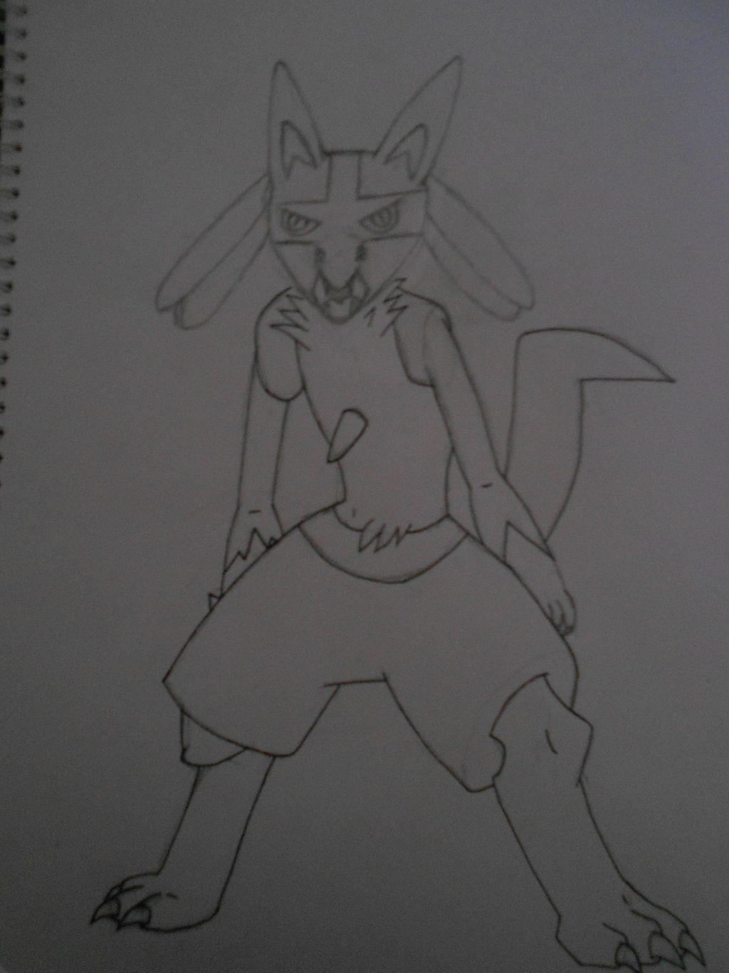 Lucario - WIP request, outline half done by snoopysoap