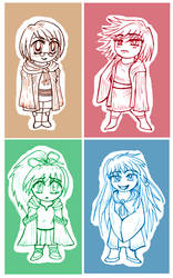 The Four Element Charmers by roxioxx