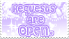 .:Requests Stamp OPEN:. by HoneyDoodles
