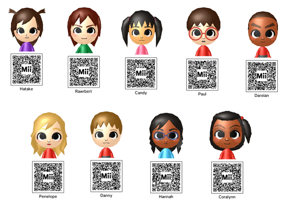 Anime Mii Characters 3ds : Chibi downloadable ds mii s by hatty hime on deviantart