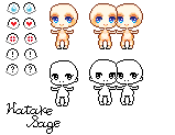 Free to Use - Simple Chibi Base by Hatty-hime