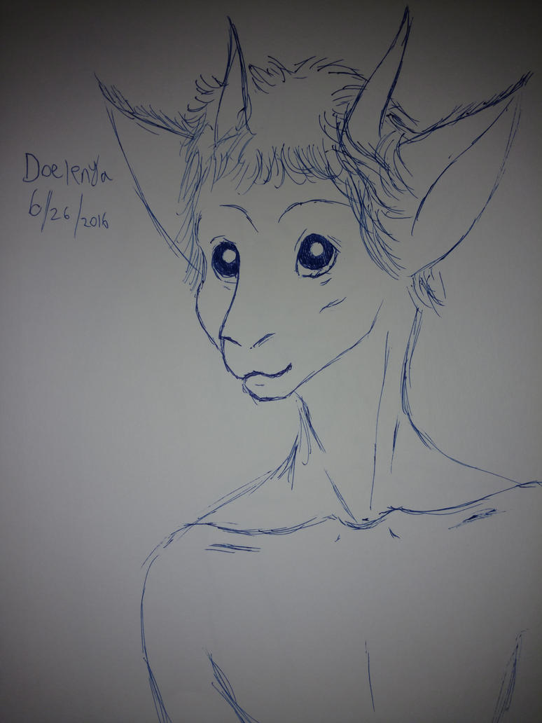 Doelenya pen sketch by joecapricorn