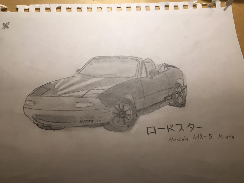 Mazda MX-5 sketch by DemiurArts