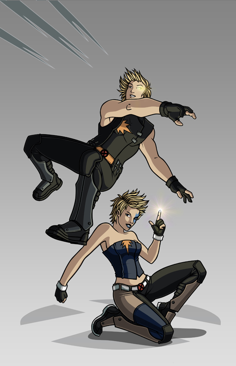 X-men Costume Redesign: Dazzler and Longshot by Hiroki8